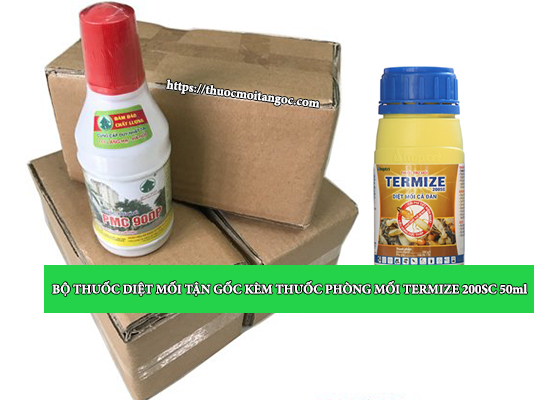 Bộ thuốc diệt mối tận gốc kèm thuốc phòng mối termize